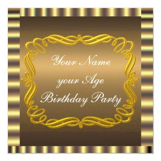 Create Your Gold Chocolate Invitation