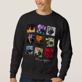 Create Your Instagram Selfies 9 images   NAME! Sweatshirt