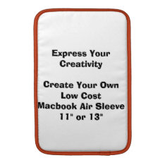Create Your Low Cost Macbook Air Laptop Sleeve at Zazzle