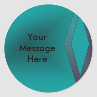 Create Your Message Classic Round Sticker