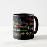 "create your name pattern mug<br><div class=""desc"">Personalize this mug with your own name</div>"