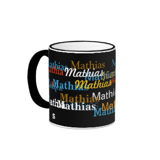 create your name pattern ringer coffee mug