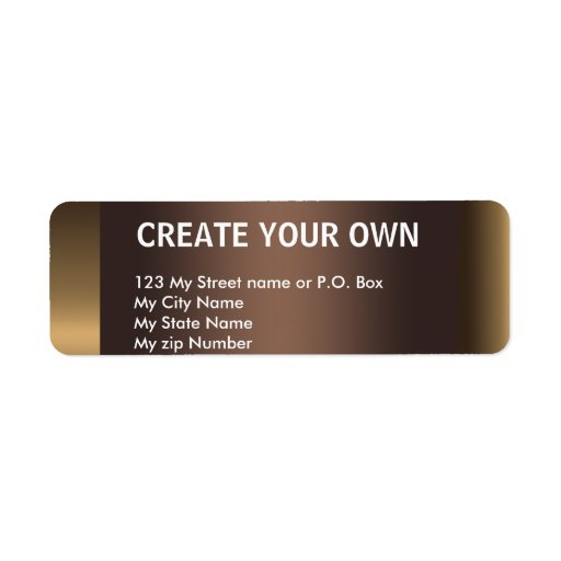 Create Your Own 10 Simple Return Address Label Labels
