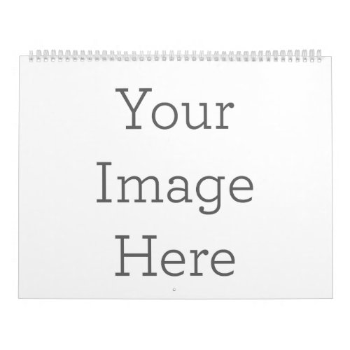 Create Your Own 12 Month Large Sized Two_Page Calendar