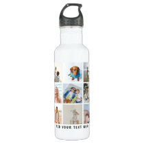 Create Your Own 15 Sqaure Photo Collage Stainless Steel Water Bottle