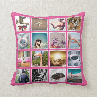 Create Your Own 16 Photo Collage Instagram Pillow