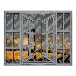 Create Your Own 18 Pane Open Window Poster