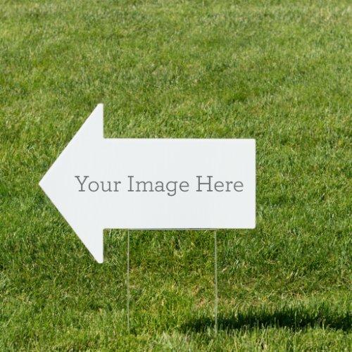 Create Your Own 18x24 Arrow Yard Sign