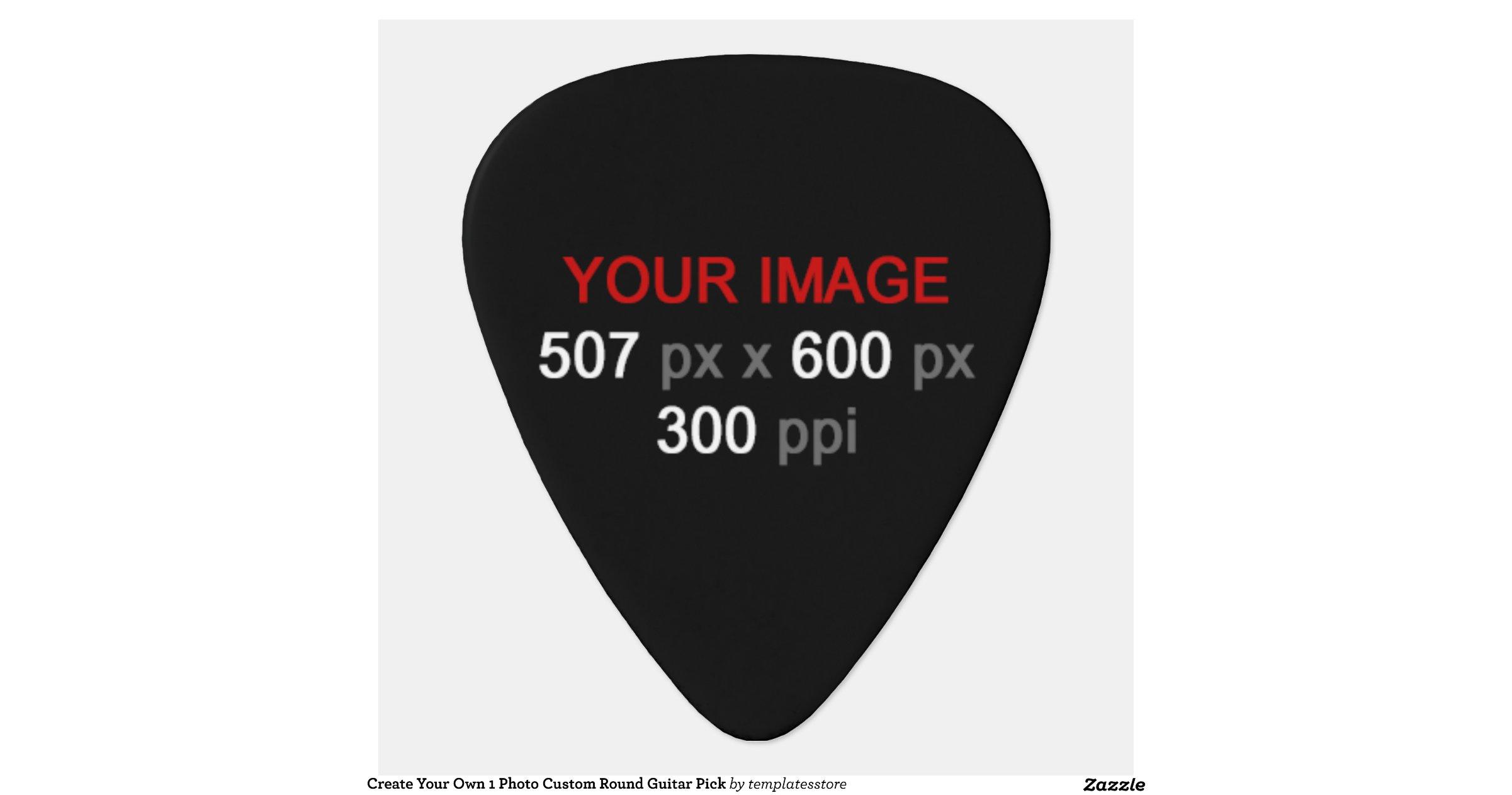 Create Your Own 1 Photo Custom Round Guitar Pick