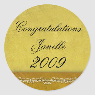 Create your own 2009 graduation products classic round sticker