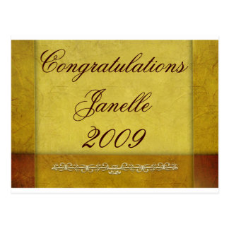 Create your own 2009 graduation products postcard