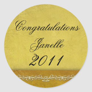 Create your own 2010 graduation products classic round sticker