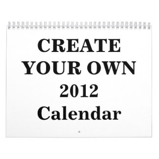 Create Your Own 2012 Calendar (Two Page Medium)
