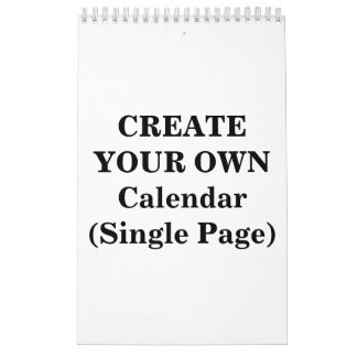Create Your Own 2016 Calendar (Single Page)