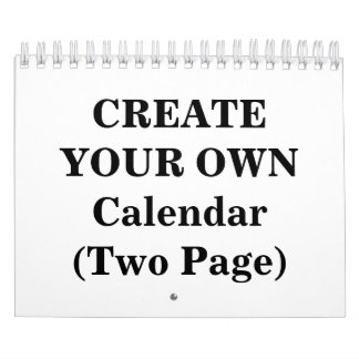 Create Your Own 2016 Calendar (Two Page)