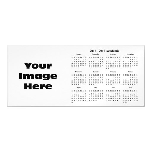 Create Your Own 2017 School Calendar Magnetic Card Zazzle