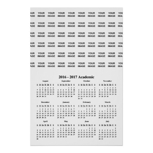 Create Your Own 2017 School Calendar Poster Zazzle