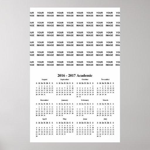 Create Your Own 2017 School Calendar Poster Zazzle