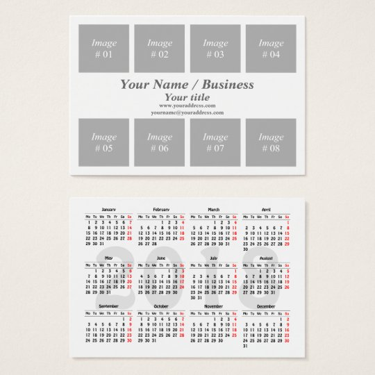 Create Your Own  Calendar Business Card  ZazzleCom