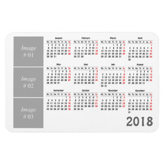 Create your own 2018 calendar magnet