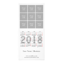 Create your own 2018 calendar Rack Card