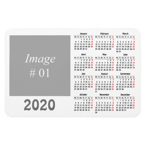 Create your own 2020 calendar magnet