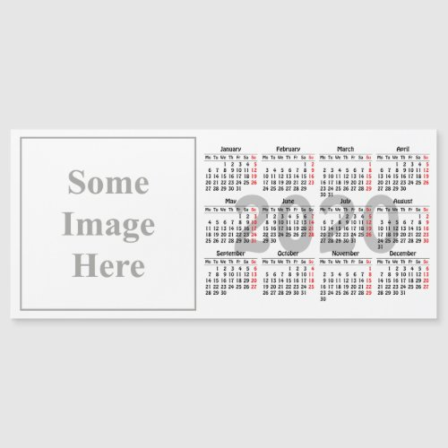 Create your own 2020 calendar Magnetic Card