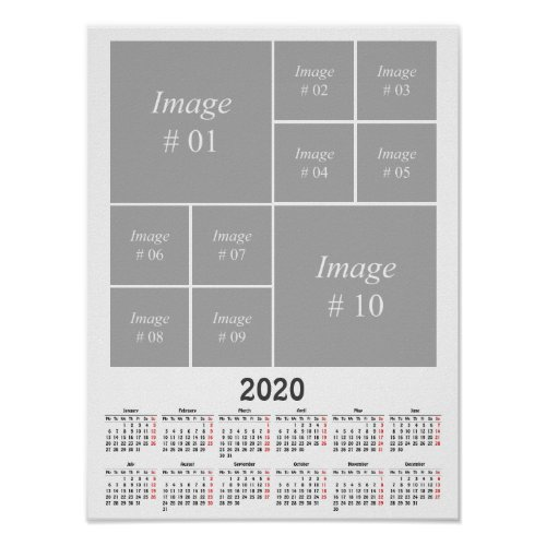 Create your own 2020 calendar poster