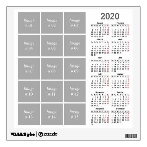 Create your own 2020 calendar wall decal