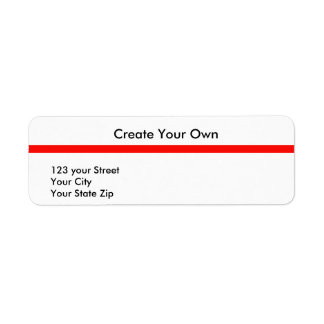 Create Your Own 21 Return Address Label