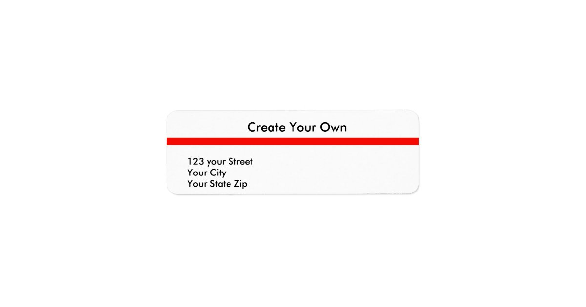 Create Your Own 21 Return Address Label : Zazzle