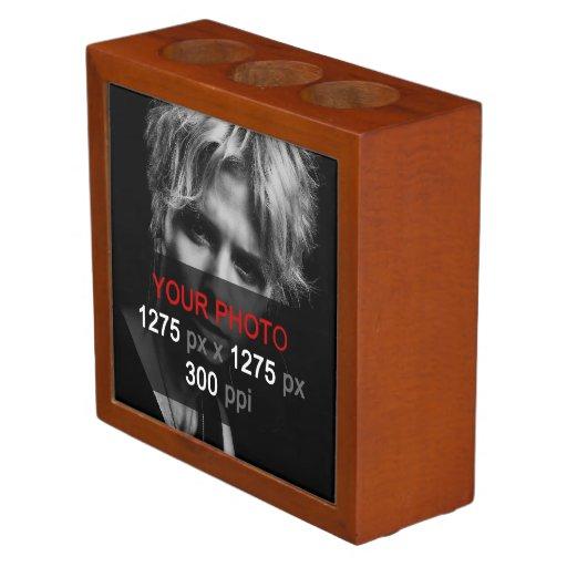 Create your own 2 photo custom desk organizer zazzle - Make your own desk organizer ...
