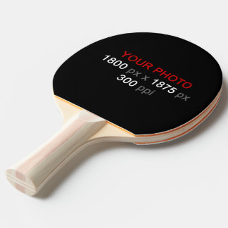 Create Your Own 2 Photos Custom Ping Pong Paddle