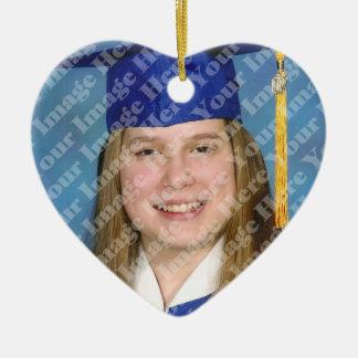 Create Your Own 2 Sided Heart Photo Keepsake Ceramic Ornament