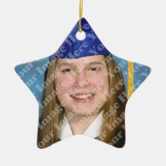 Create Your Own 2 Sided Star Photo Keepsake Ceramic Ornament