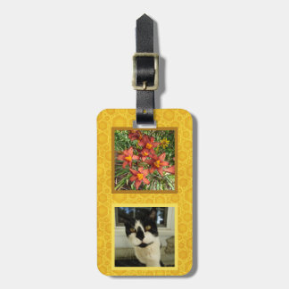 Create Your Own 2 Square Instragram Photo Honey Luggage Tag
