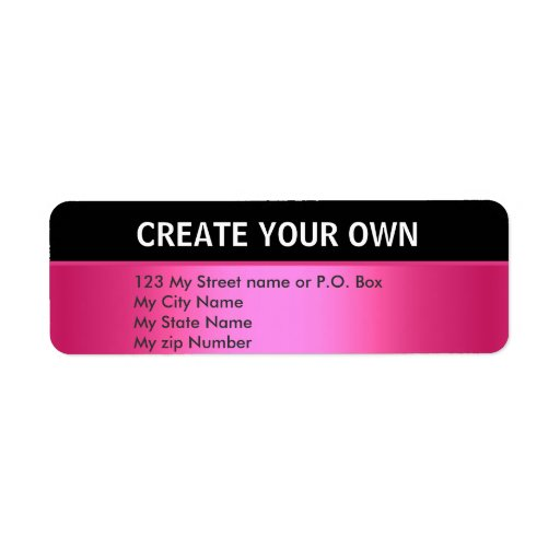 Create Your Own 30 Simple Return Address Label Custom