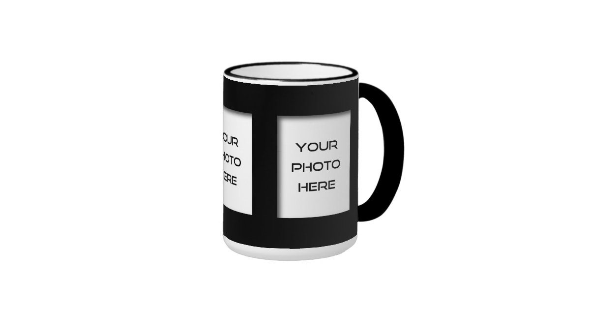 Create Your Own 3 Photo Classic Coffee Mug Black Zazzle