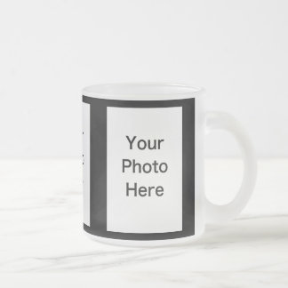 Create Your Own 3 Photo Frosted Glass Mug (10oz)
