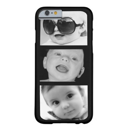 Create-Your-Own 3 Photo Upload iPhone 6 Slim Case Phone Case