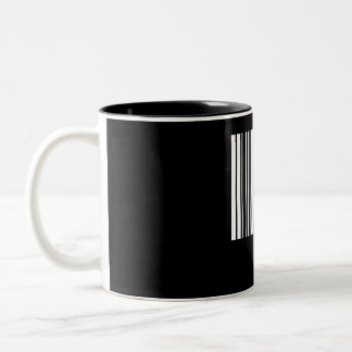 Create Your Own 4 Letters White Two-Tone Coffee Mug
