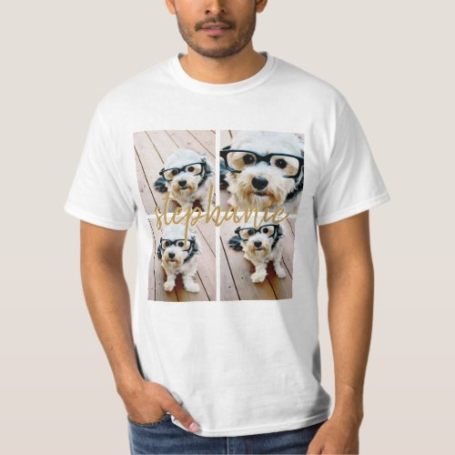 Create Your Own 4 Photo Collage _ Script Name T_Shirt