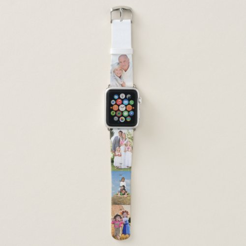 Create your own 4 Photo Strip Collage Apple Watch Band