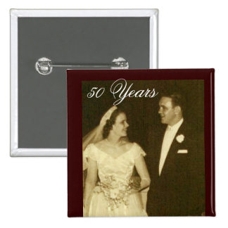 Create your own 50th Anniversary Invitations Pinback Button