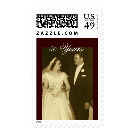 Create your own 50th Anniversary Invitations Postage