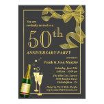 "Create your own 50th ANNIVERSARY Party Invitations 5"" X 7"" Invitation Card"