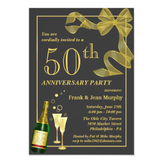 Create your own 50th ANNIVERSARY Party Invitations