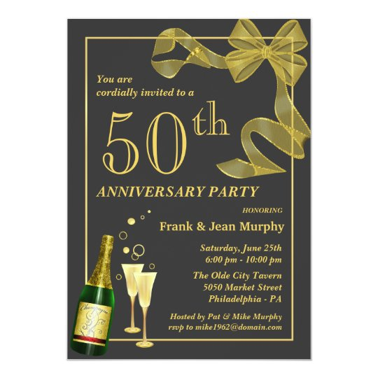 Make Your Own Wedding Invites Ideas: Create Your Own 50th ANNIVERSARY Party Invitations