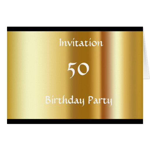 create your own 50th birthday party invitation greeting
