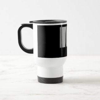 Create Your Own 5 Letters White Travel Mug